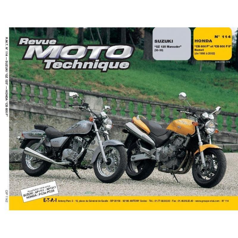 Revue Moto Technique 114.2 Suzuki GZ 125 Marauder / Honda CB 600 F Hornet