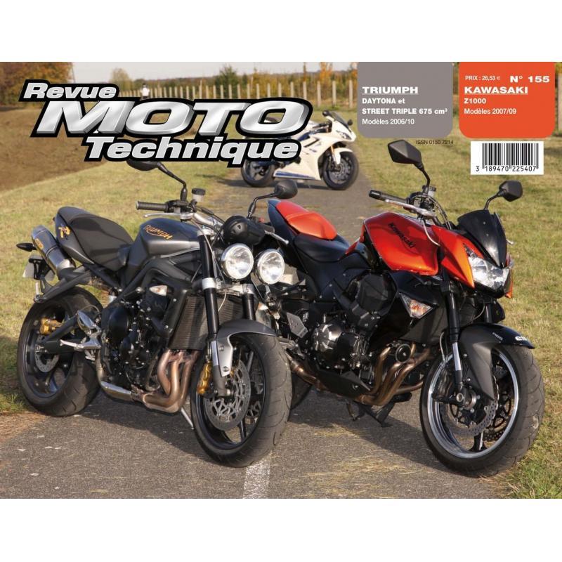 Revue Moto Technique 155.1 Kawasaki Z1000 / Triumph Street Triple / Daytona