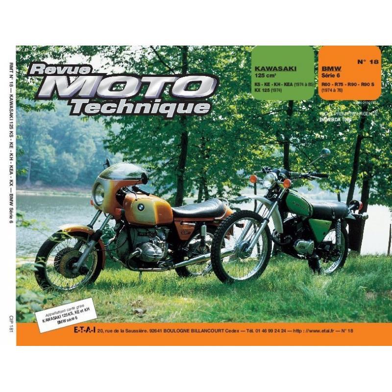 Revue Moto Technique 18 Kawasaki 125 KS A KH / BMW R 60/6 A R 90/6