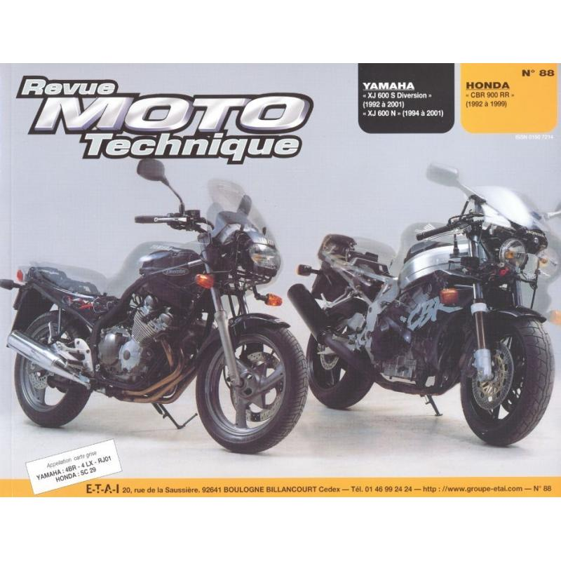 Revue Moto Technique 88.5 Yamaha XJ 600 S / Honda CBR 900 RR 92-99