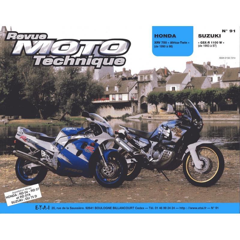 Revue Moto Technique 91.2 Honda XRV 750 Africa Twin / Suzuki GSX-R 1100 W