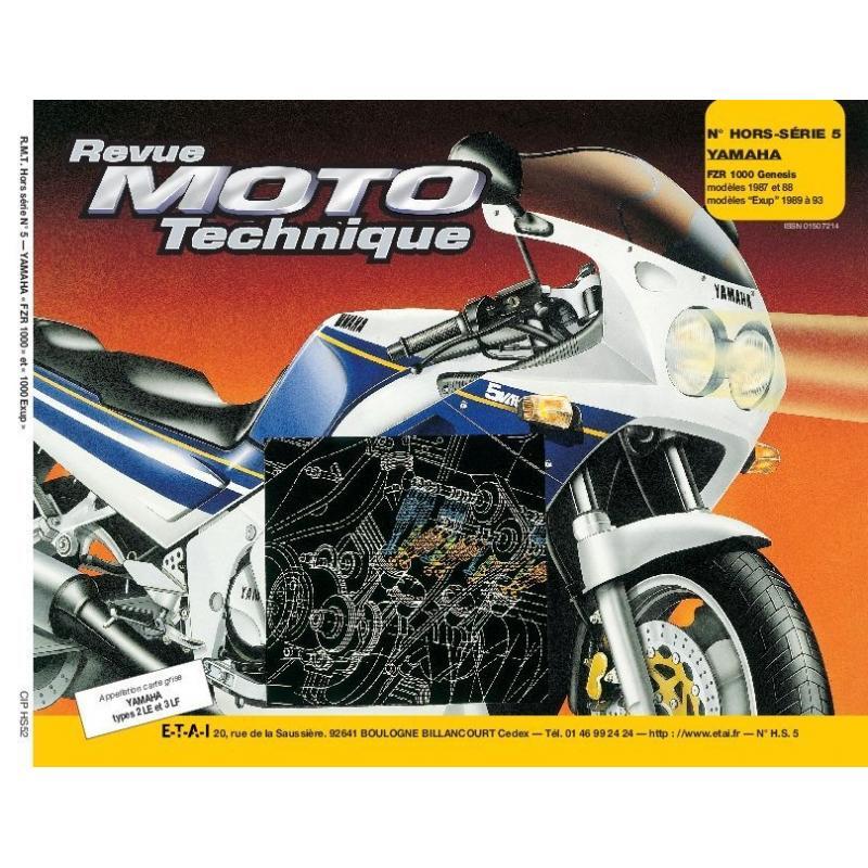 Revue Moto Technique HS 5.2 Yamaha FZR 1000 Genesis 87-88