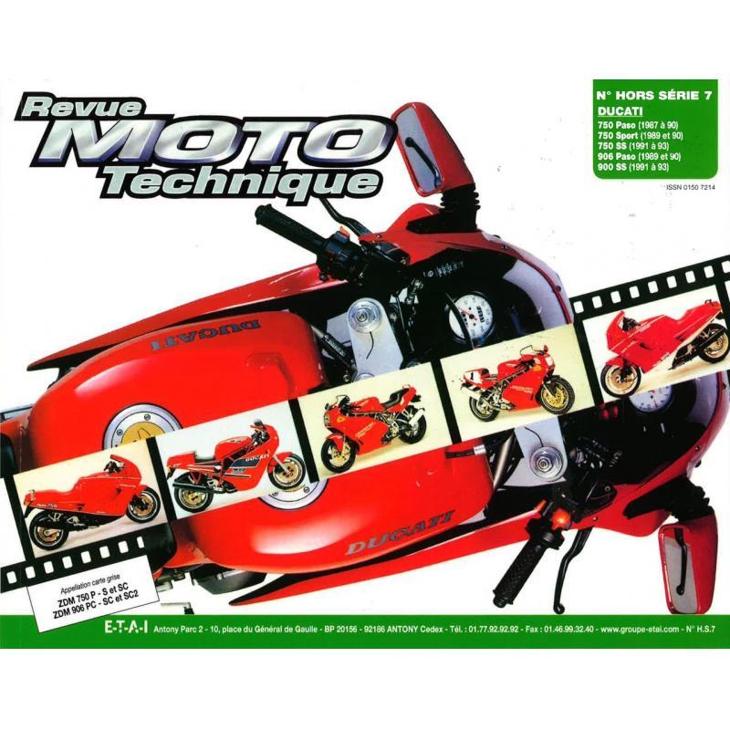 Revue Moto Technique HS 7.1 Ducati 750 Paso-Sport 87-93 - 900 Paso