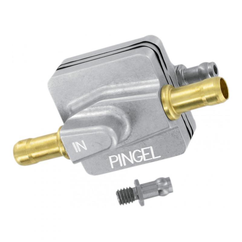 Robinet d'essence Pingel Vacuum droit poli