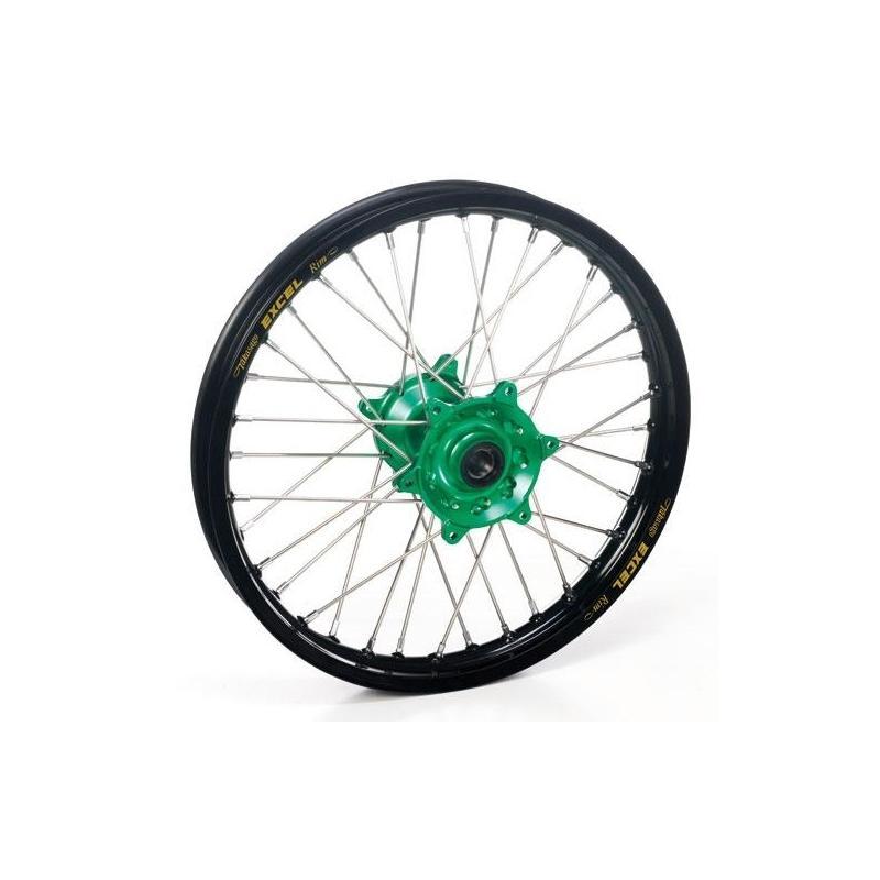 Roue avant Haan Wheels/Excel 17x1,40 Kawasaki 80 KX 00-17 noir/vert