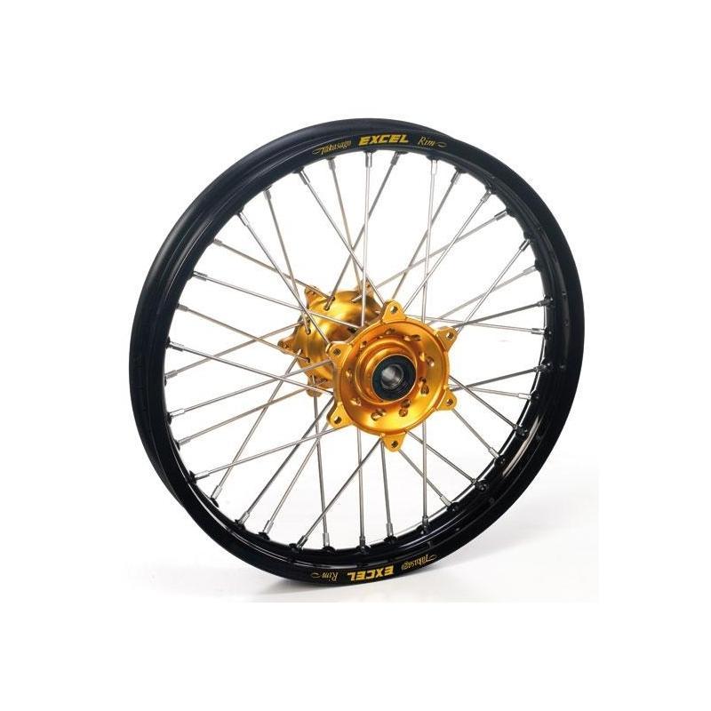 Roue avant Haan Wheels/Excel 21x1,60 Kawasaki 250 KX 06-08 noir/or