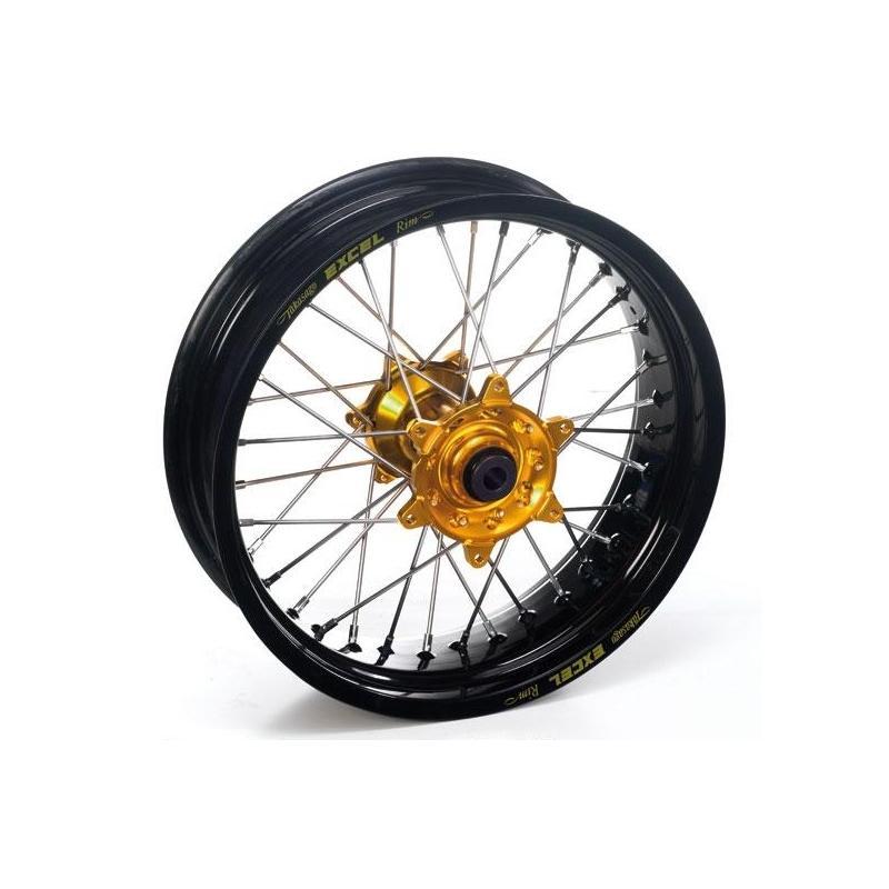 Roue avant Supermotard Haan Wheels/Excel 16,50x3,50 Kawasaki 450 KX-F 06-17 noir/or