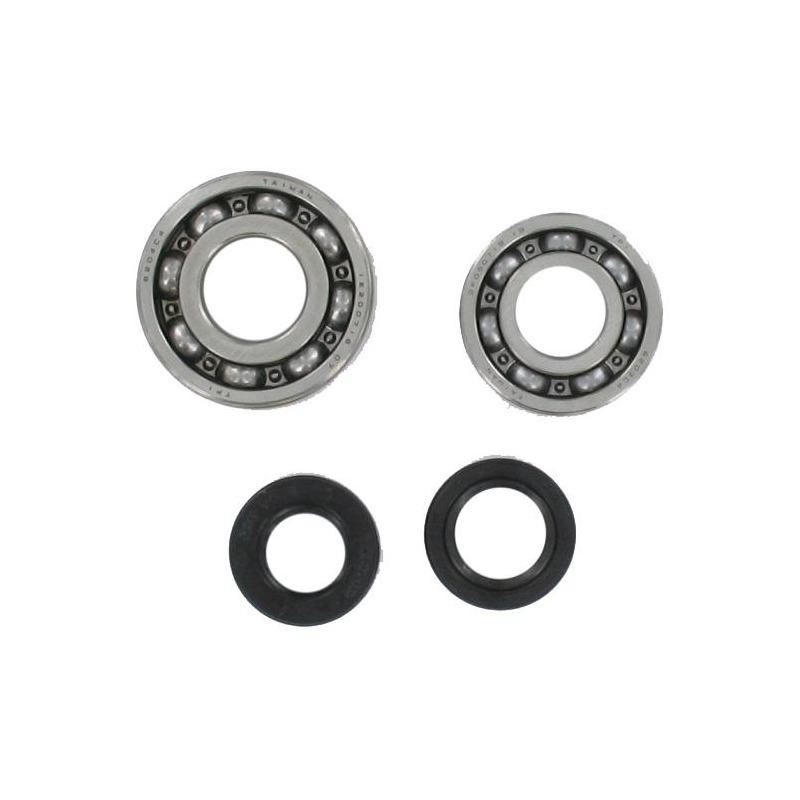 Roulements de vilebrequin TPI 6203 / 6204 C4 acier et joints pour Peugeot 103