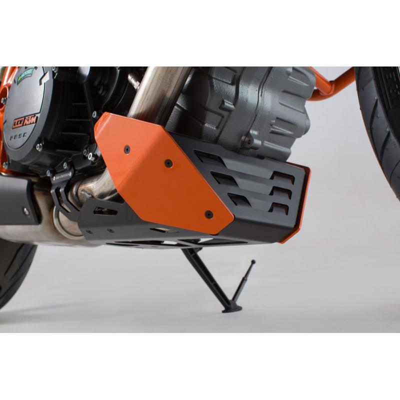 Sabot moteur SW-Motech orange KTM 1290 Super Duke R 14-19