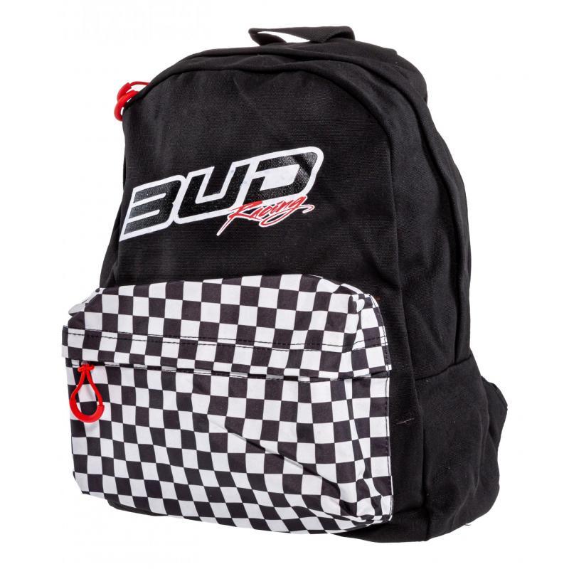 Sac à dos Bud Racing Checkers noir/blanc