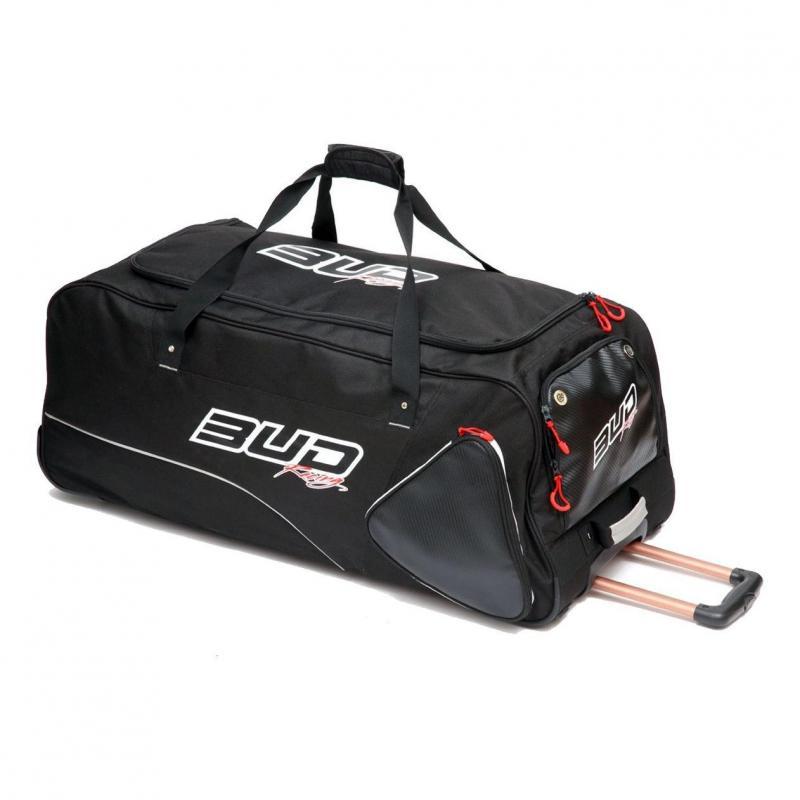 Sac de voyage à roulette Bud Racing Carbon noir