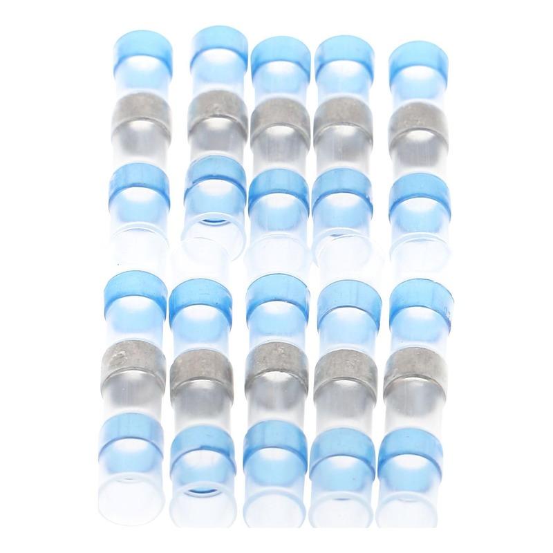 Sachet de 10 cosses soudable et thermo-rétractable bleu de 2,5mm à 1,5mm