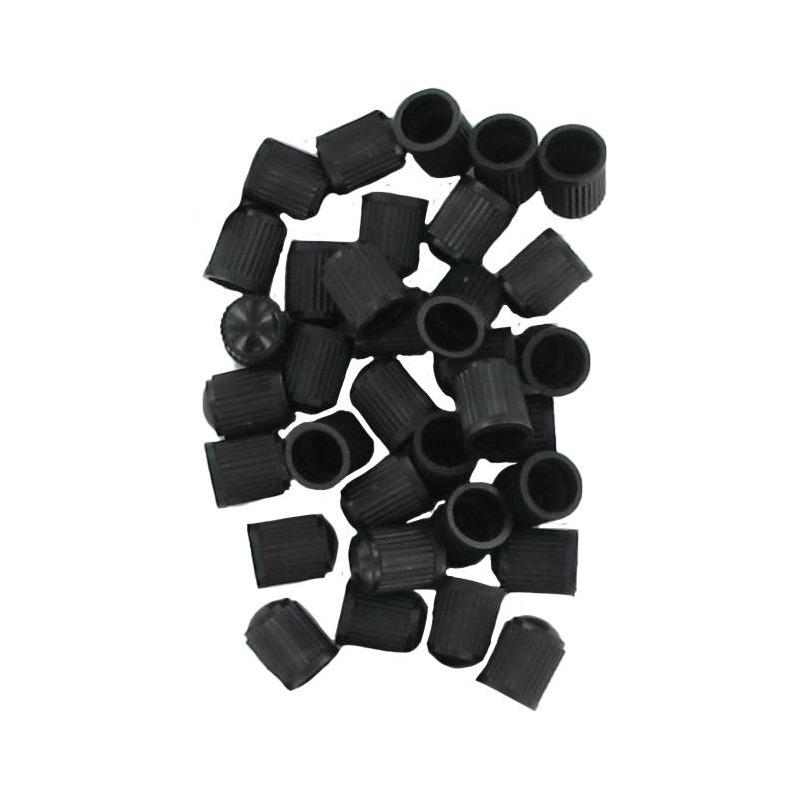 Sachet de 100 bouchons de valve plastique noir