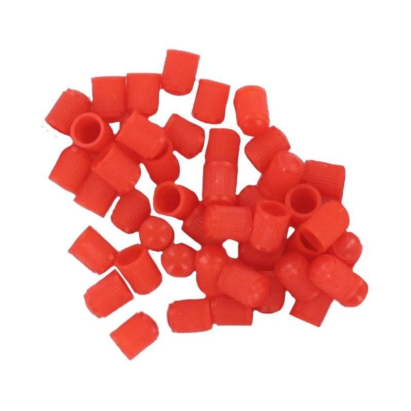 Sachet de 100 bouchons de valve plastique rouge