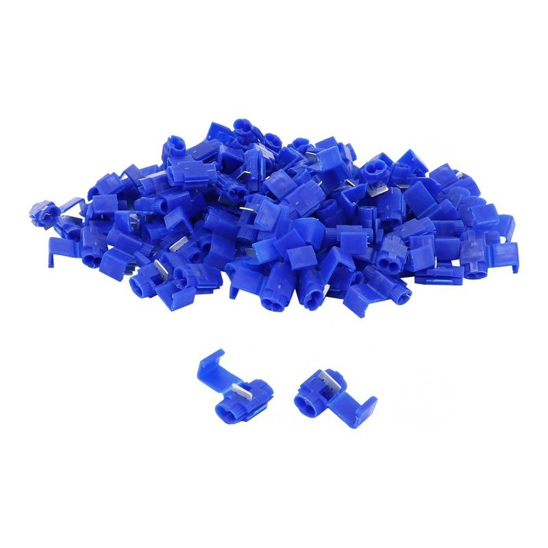 Sachet de 100 cosses électrique connecteur rapide clipsable bleu