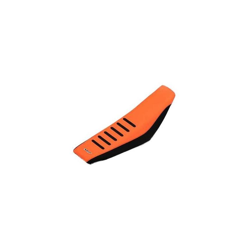 Selle YCF Bigy anti dérapante renforcée orange/noir