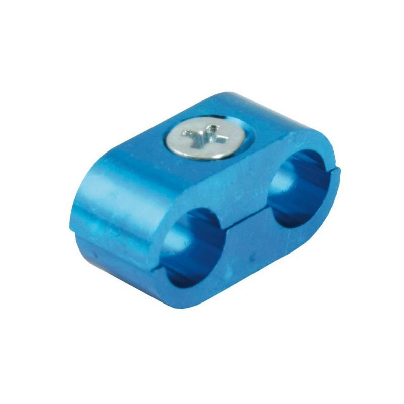 Séparateur de câble double anodisé bleu