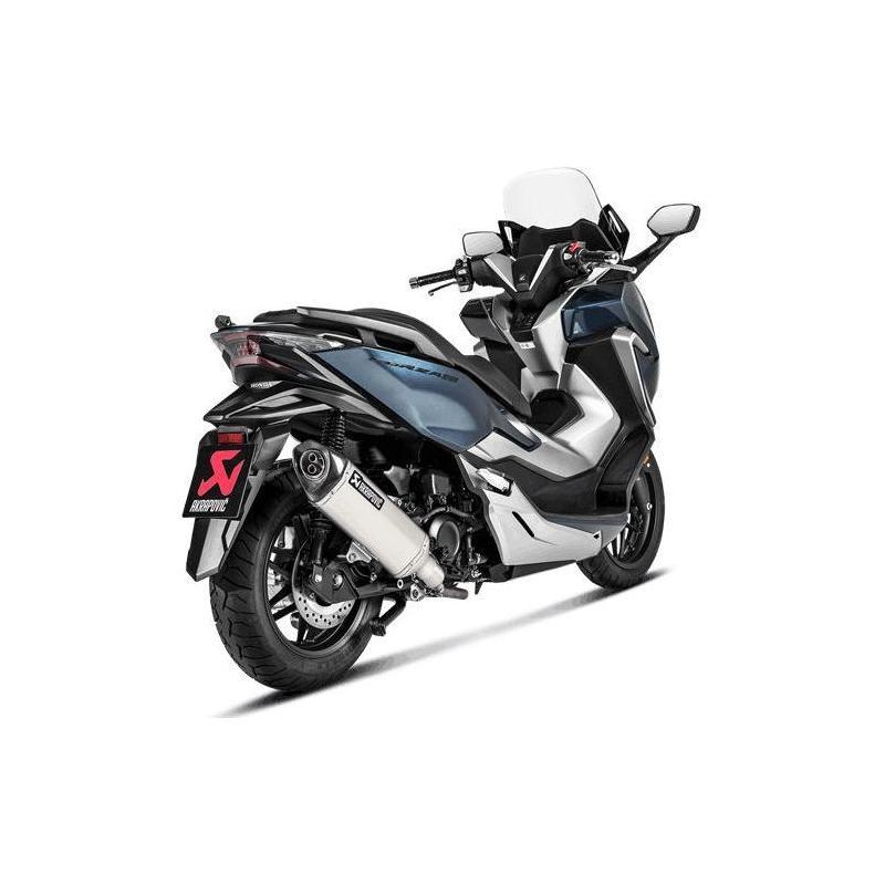 Silencieux Akrapovic inox embout carbone Honda Forza 300 18-20