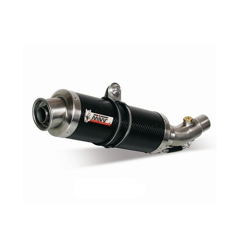 Silencieux double MIVV Round carbone KTM 05-06