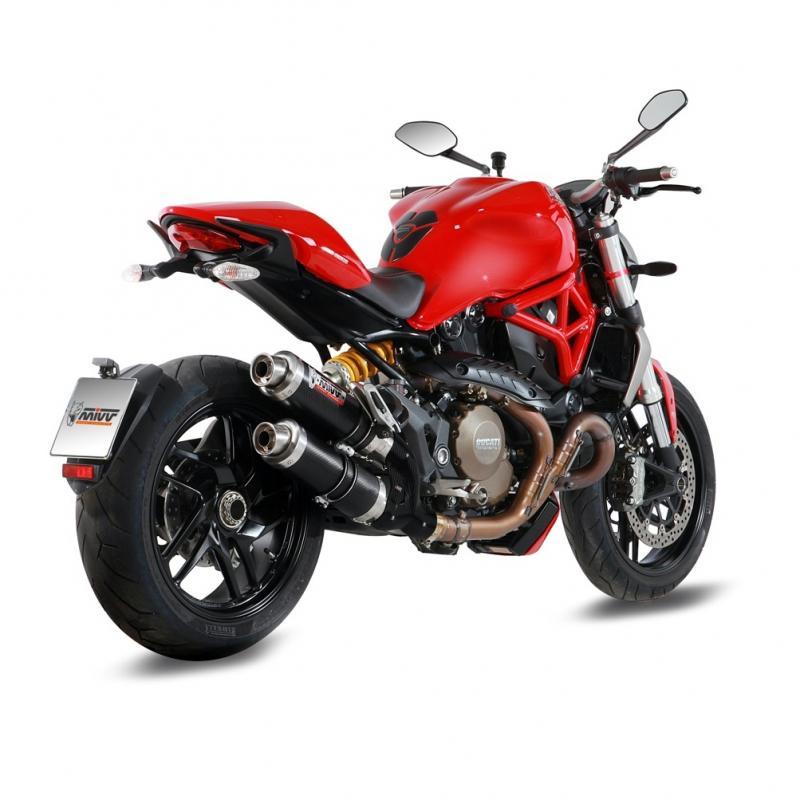 Silencieux homologué MIVV GP carbone Ducati Monster 1200 14-