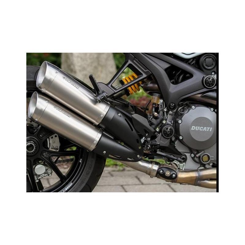 Silencieux homologués SPARK Rond titane pour Ducati Monster 1100 Evo 11-13