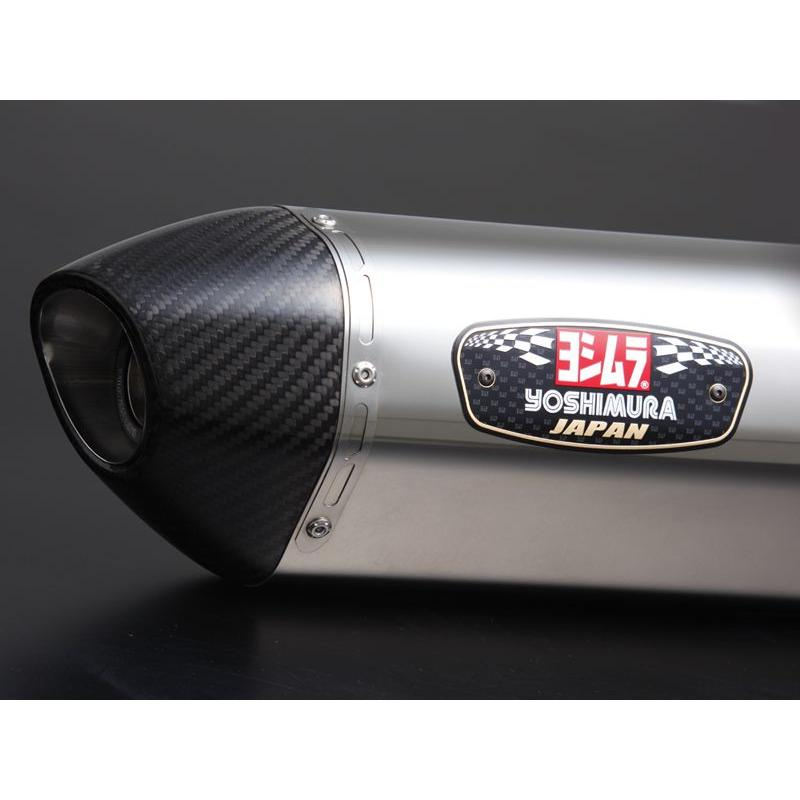 Silencieux homologués Yoshimura R77-J inox pour Suzuki GSX-R 1340 Hayabusa 08-16 (la paire)