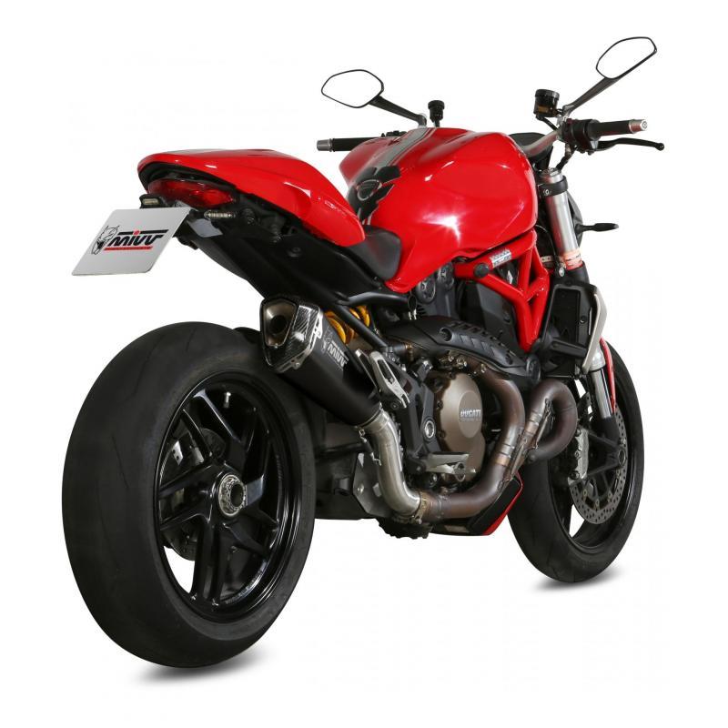 Silencieux Mivv Delta Race inox noir casquette carbone Ducati Monster 1200 14-16