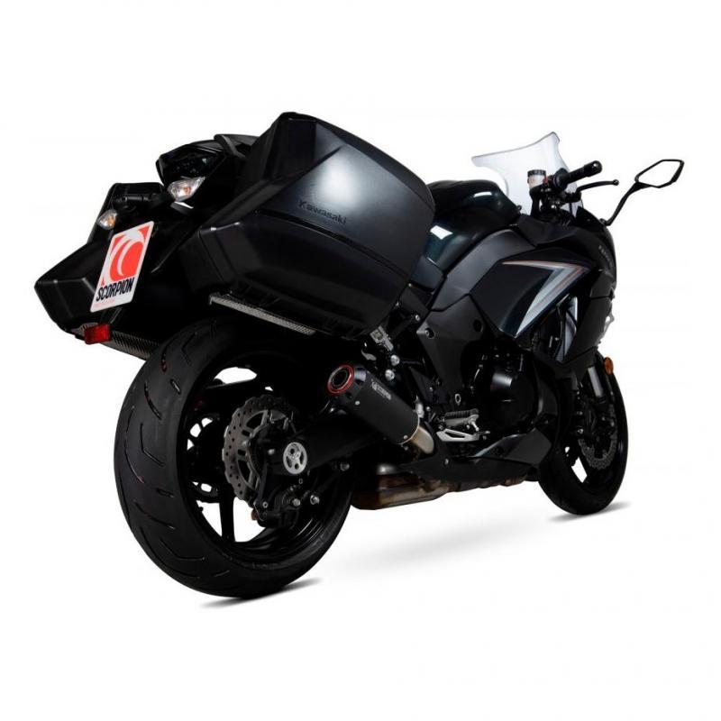 Silencieux Scorpion Red Power inox noir Kawasaki Z 1000 SX 17-19 (paire)