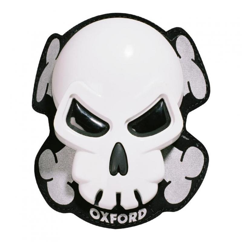Sliders de genoux Oxford Skull blanc