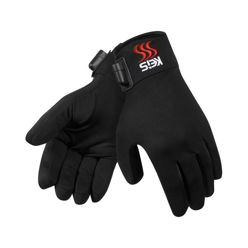 Sous-gants chauffants Keis G102 noirs