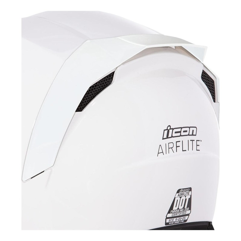 Spoiler arrière Icon pour casque Airflite blanc