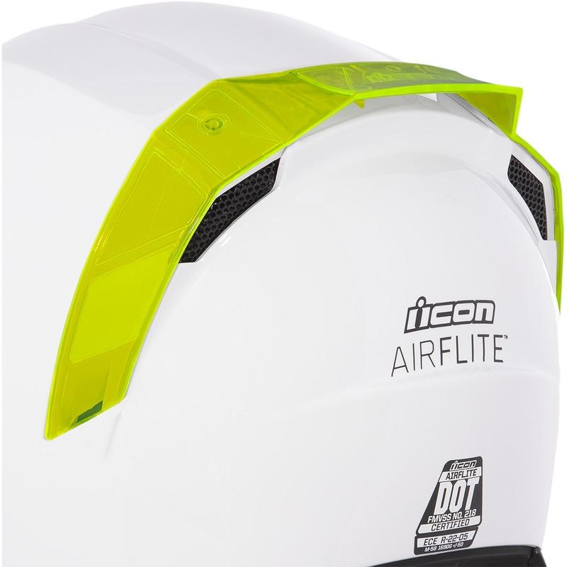 Spoiler arrière Icon pour casque Airflite dayglo rouge