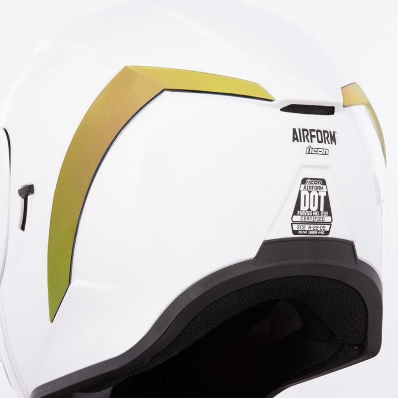 Spoiler arrière Icon pour casque Airform or