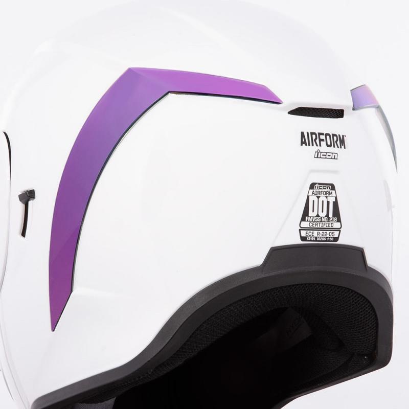 Spoiler arrière Icon pour casque Airform violet