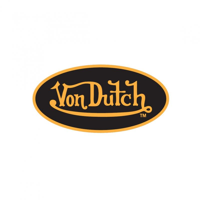 Sticker 8cm Von Dutch noir/jaune