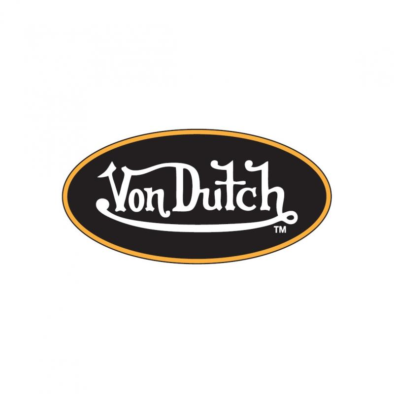 Sticker 8cm Von Dutch noir/or