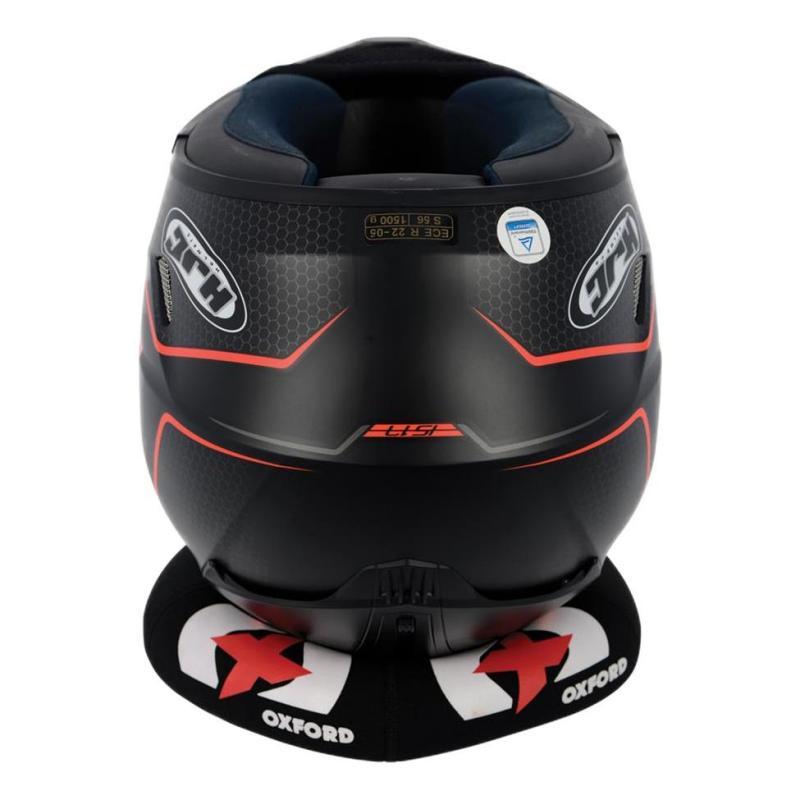 Support de casque Oxfort coussin noir/rouge