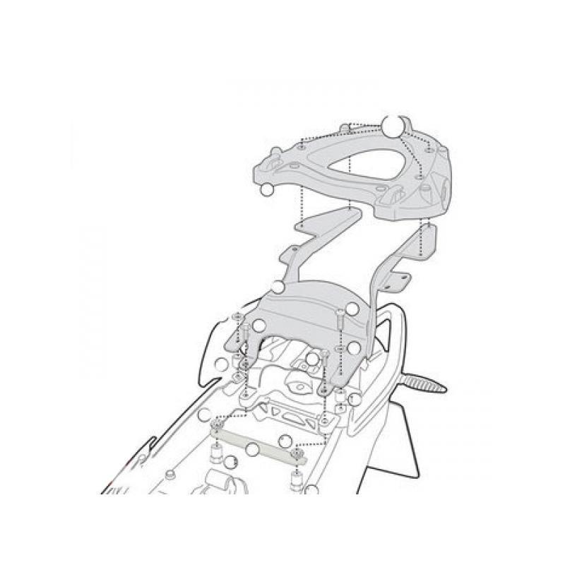 Support top case Givi Monolock Bmw R 1200 R 11-14