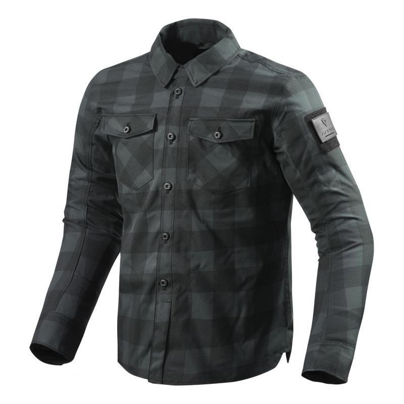 Sur-chemise moto Rev'it Bison noir/gris