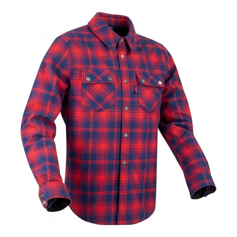 Sur-chemise Segura Sierra marine/rouge