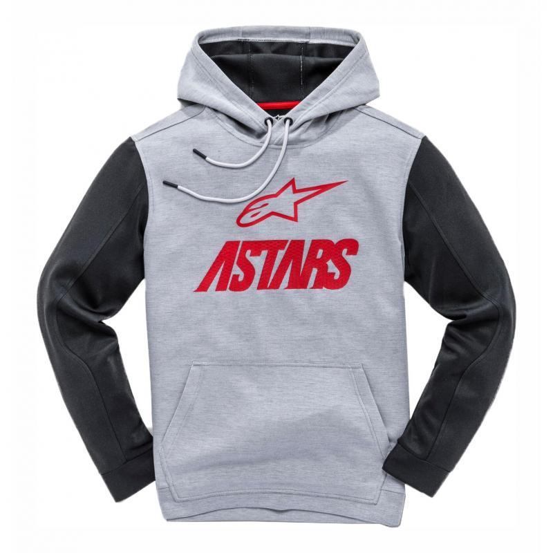 Sweat à capuche Alpinestars Converge gris heather/rouge