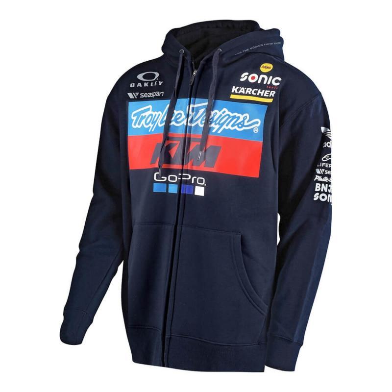 Sweat à capuche avec zip Troy Lee Designs Zipup KTM team '18