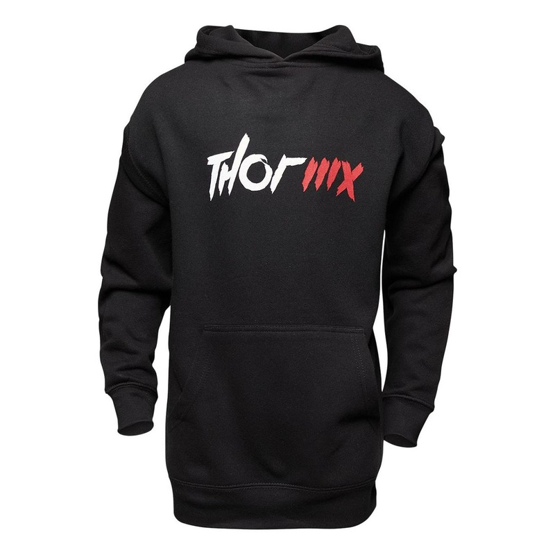Sweat à capuche enfant Thor MX Pullover noir