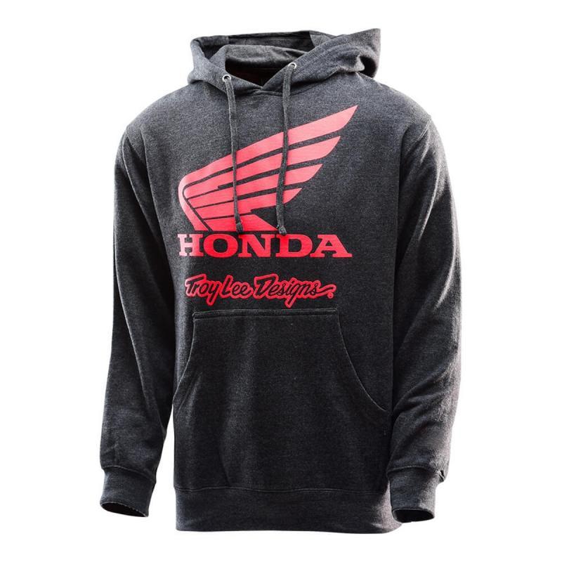 Sweat à capuche Troy Lee Designs Honda Wing charcoal