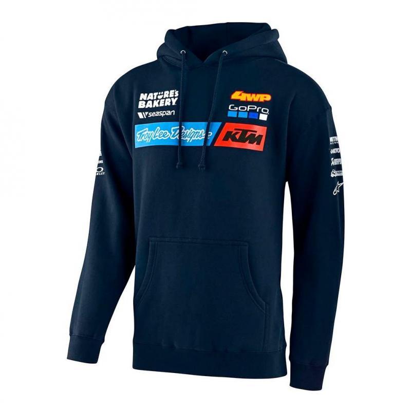 Sweat à capuche Troy Lee Designs Team KTM 2020 navy