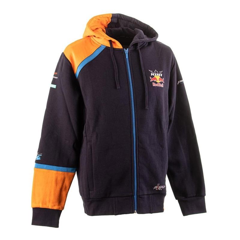 Sweat à capuche zipé Kini Red Bull Team navy/orange