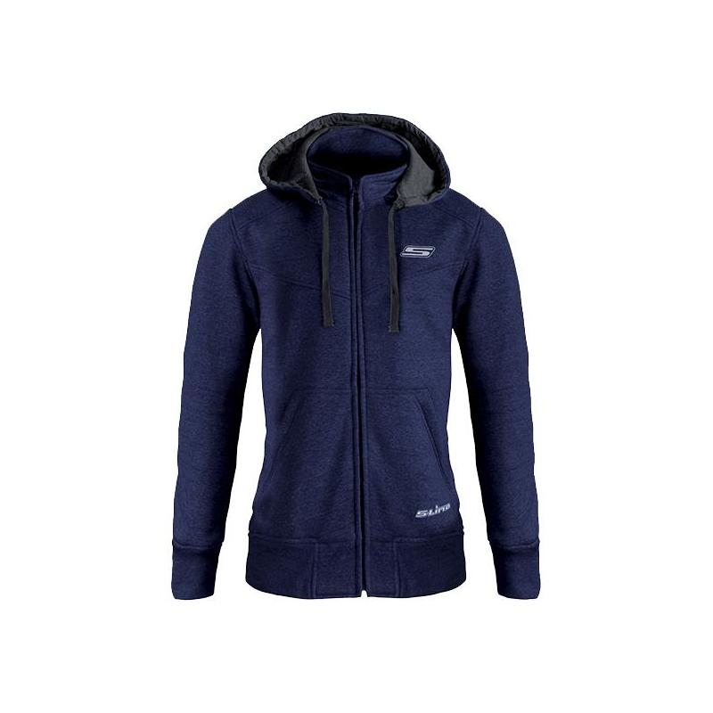 Sweat à capuche zippé femme S-Line Street bleu