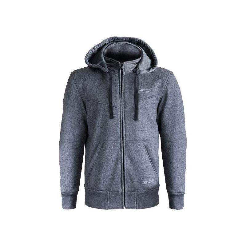 Sweat à capuche zippé S-Line Street gris