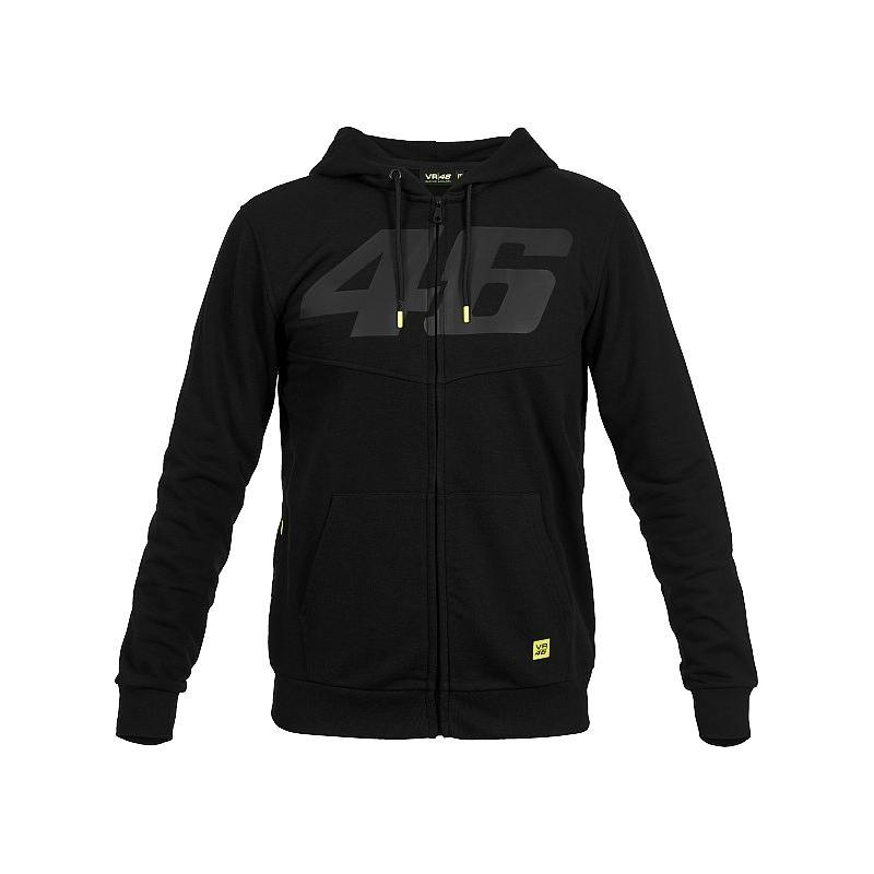 Sweat à capuche zippé VR46 Core noir