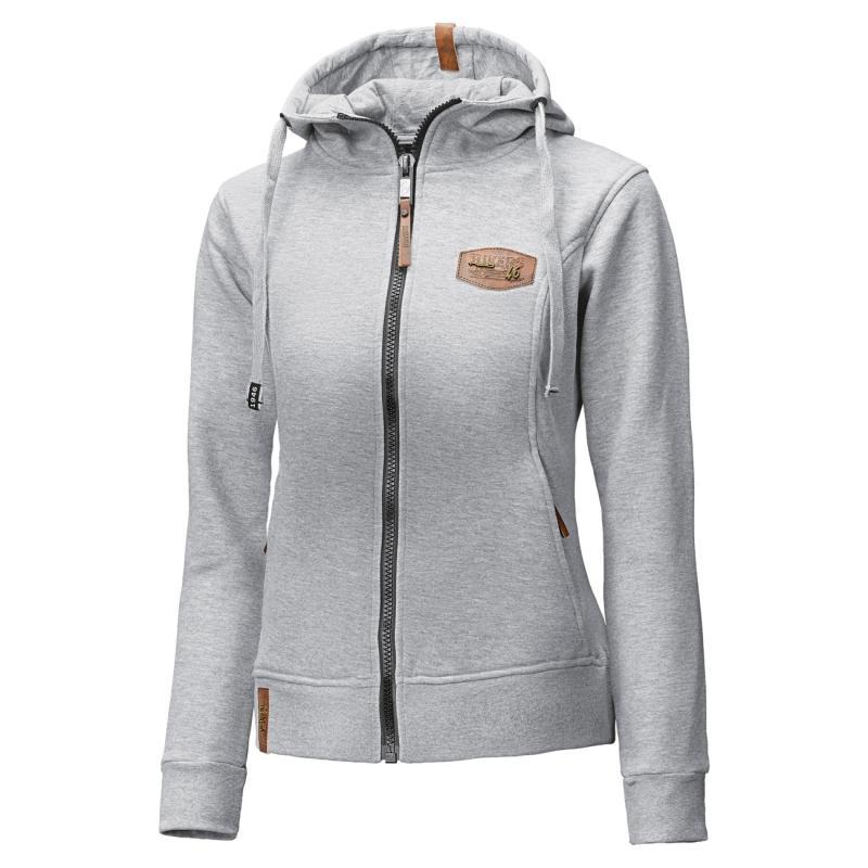 Sweat capuche femme Zip-Hoodie 46 gris